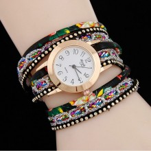 Sloggi fashionable female wrapped bracelet watch colorful candy color silver belt quartz watch
