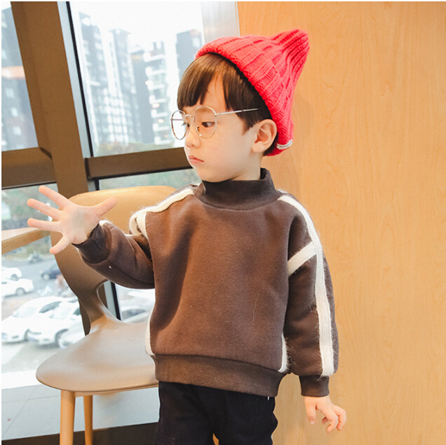 2017 winter new design thicken hoodie for boy kid sweater clothing with good quality