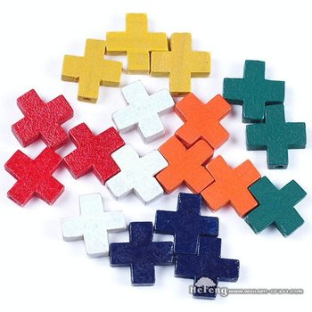 Colored small wood cross buy wood cross small wood cross for Wooden craft crosses wholesale