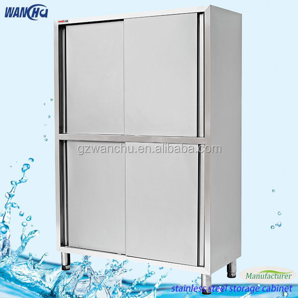 Commercial stainless steel cupboard cabinet for restaurant for Sliding door manufacturers