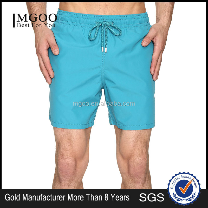Customized Color Solid Swim Trunk With Side Pockets 100% Polyamide Bathing Suit Men's Board Shorts Summer swimwear