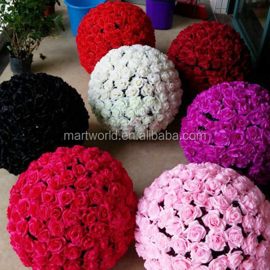2020 Artificial White Red Wedding Artificial Flower Ball