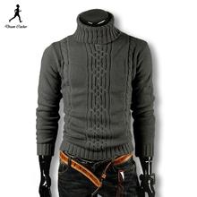Moderný pánsky sveter rolák z Aliexpress