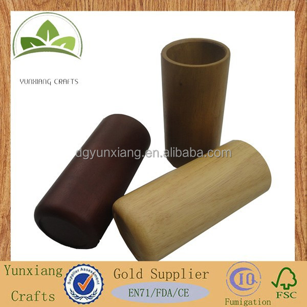wooden jar cover , high quality handmade wooden water cup cover