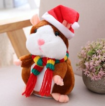High Quality Talking Hamster Mimicry Pet Animated Singing Christmas Toys