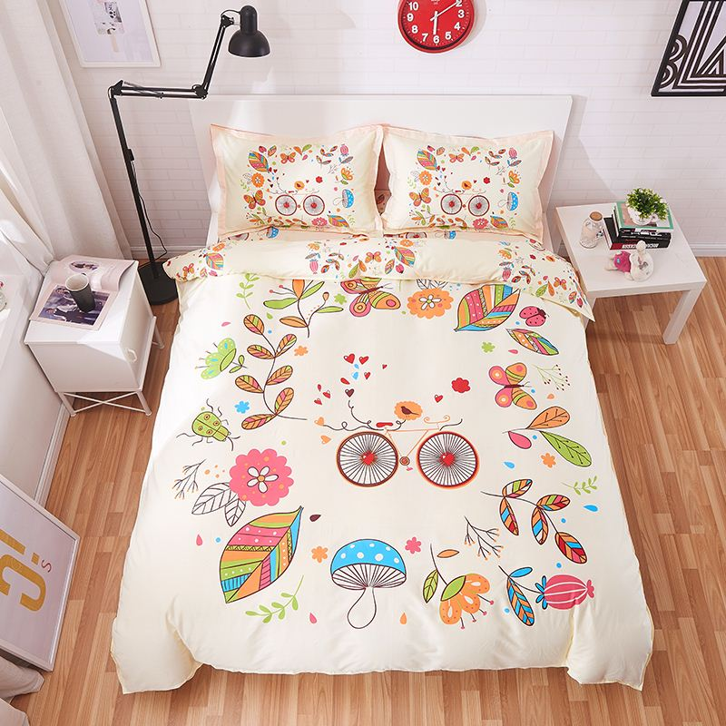 New arrival home tetiles bedclothes100% cotton cartoon 3/4pcs bedding sets include duvet cover bed sheet pillowcase