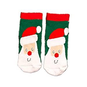 2 pack baby girls boys cartoon hosiery crew socks christmas cotton socks santa claus