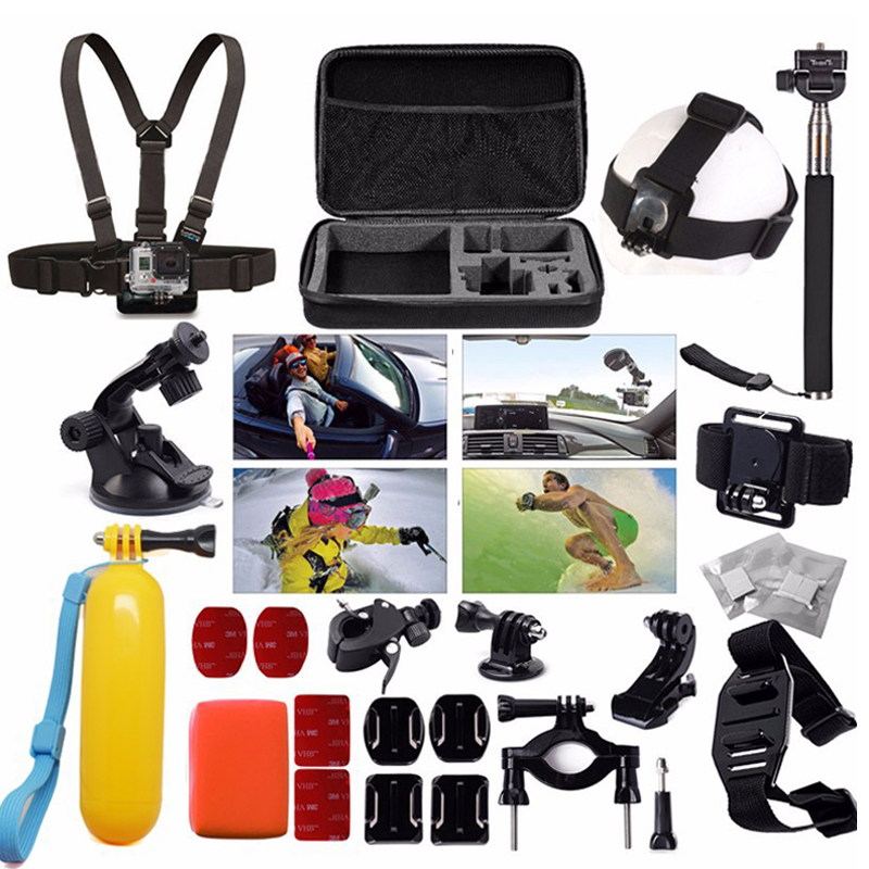Free Shipping!! Accessories Set 30in1 Bag/ Chest Strap/Tripod For Gopro Hero 3