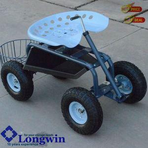 Gardening Planting Scooter, Wheeled Garden Stool