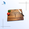 Chinese style beautiful carved durable wooden vegetable cutting board