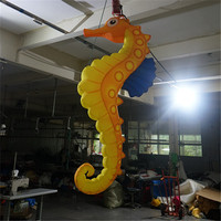 Inflatable Seamaster Model , Cute Inflatable Lighting Sea Horse , Hanging Inflatable LED Sea Animals