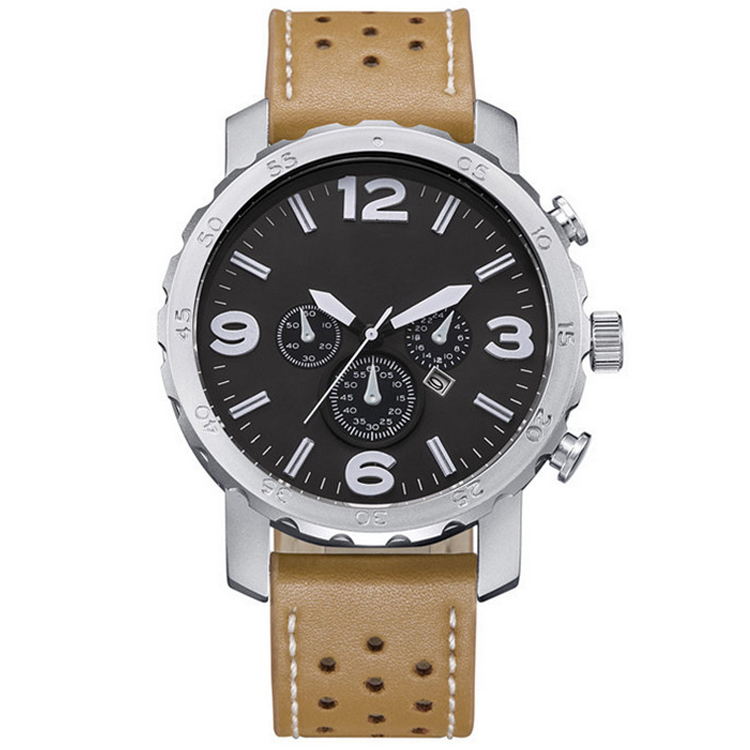 Alloy Case Leather Strap Man Watch M262, Manufacturer Since 2001, OEM/ODM Available,