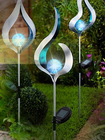 Solar Powered LED Candle Lantern Hanging Light Yard Outdoor Landscape Wal WJB