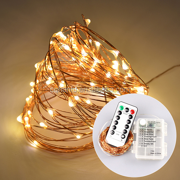 RGB color USB Operated 10M 100leds String Light Copper Wire String for Christmas lighting