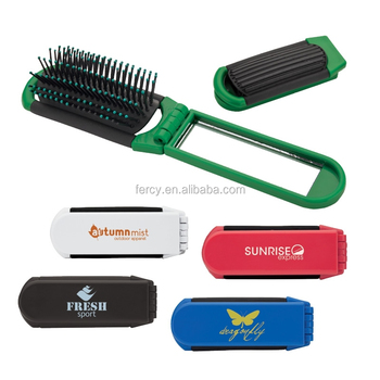Travel Foldable Mirror Hairbrush/ Mirror Hair brush / Foldable Hair Brush with Mirror