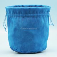 custom velvet mini barrel packaging, velvet bag for flower vase