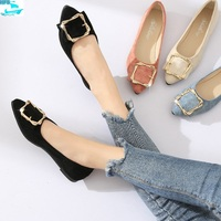 HFS10001A New Fashion Design Women Shoes Cusp Bow Ladies Flat Shoes