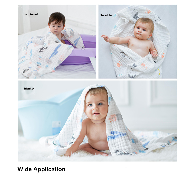 widely usages organic cotton double gauze cotton fabric