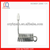 Industrial 6kw sprial teflon immersion water heating element manufacturer