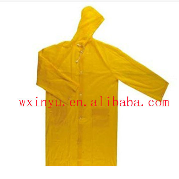 PV-0104 PVC promotion waterproof yellow raincoat for sale