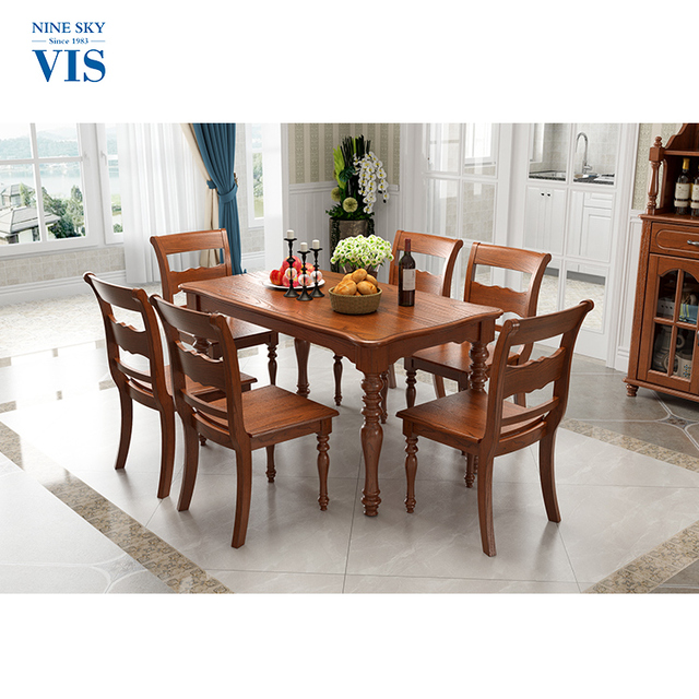 Customized Wooden Philippine Long Dining Table Set Modern