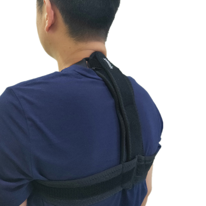 Sports Posture Corrector Spinal Support - Physical Therapy Posture Brace for Men or Women - Back, Shoulder, and Neck Pain Relief, Black