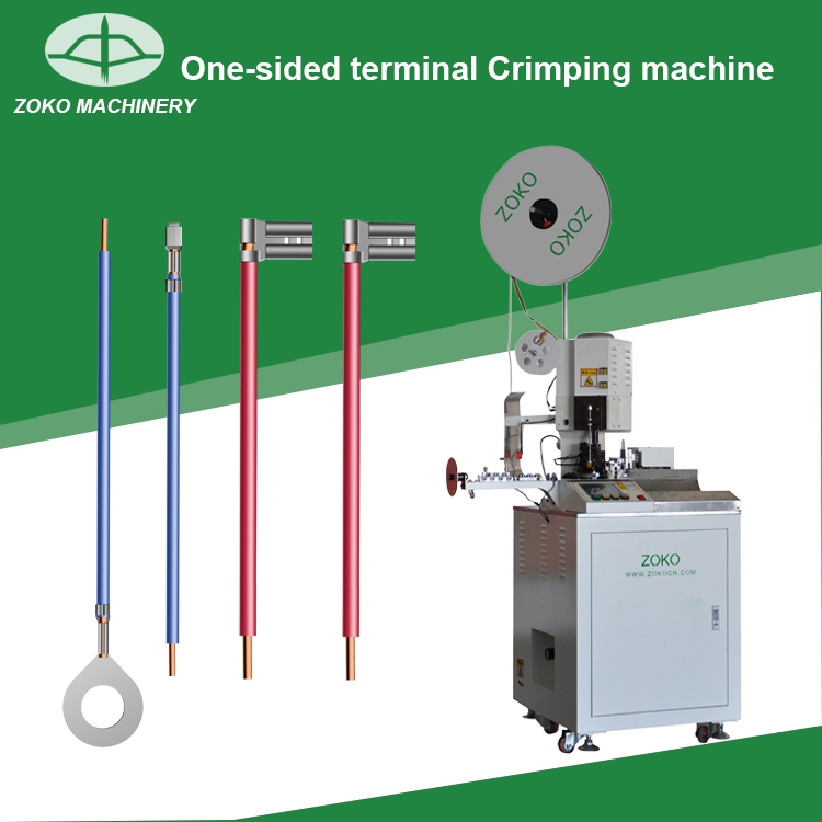Automatic one sided komax crimping machine for electric wire manufacturers
