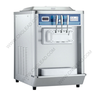 Stainless steel 3&4 heads commercial use china soft service ice cream machine