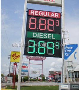 Gas Station Prices >> Gas Station Led Price Sign Wholesale Suppliers Alibaba