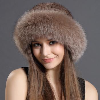 733c6035c5872 New Design Winter Hat Mink Fur Knitting Women Hat Fox Fur Hat ...