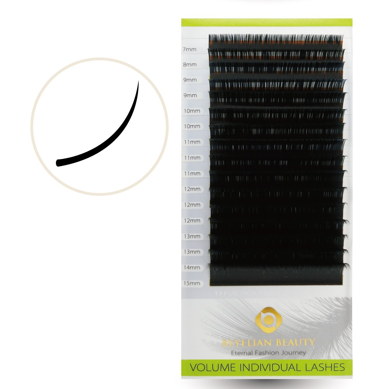 5b07a525a5f Get Quotations · Beyelian Beauty XD Russian Volume Lashes 0.03mm Individual Eyelash  Extensions Semi Permanent Mink Lashes 7
