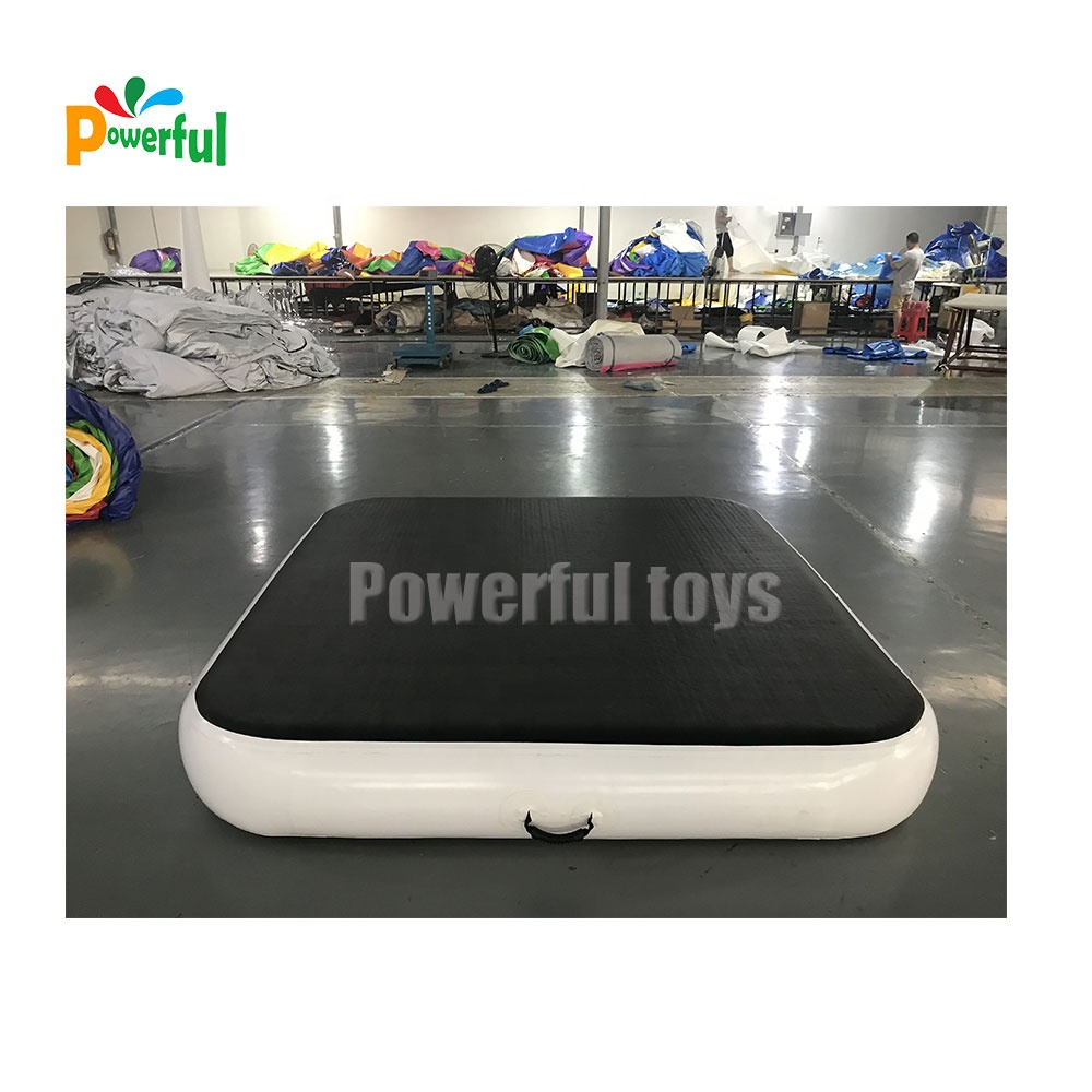 Black color inflatable airtrack air board gymnastics tumble airblock airtrack factory