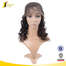 Loose wave two tone wigs for black women,fashion simple half hand half machine made wig