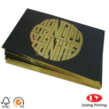1mm thickness commecial Business Cards with Gold foil stamping logo and color edge