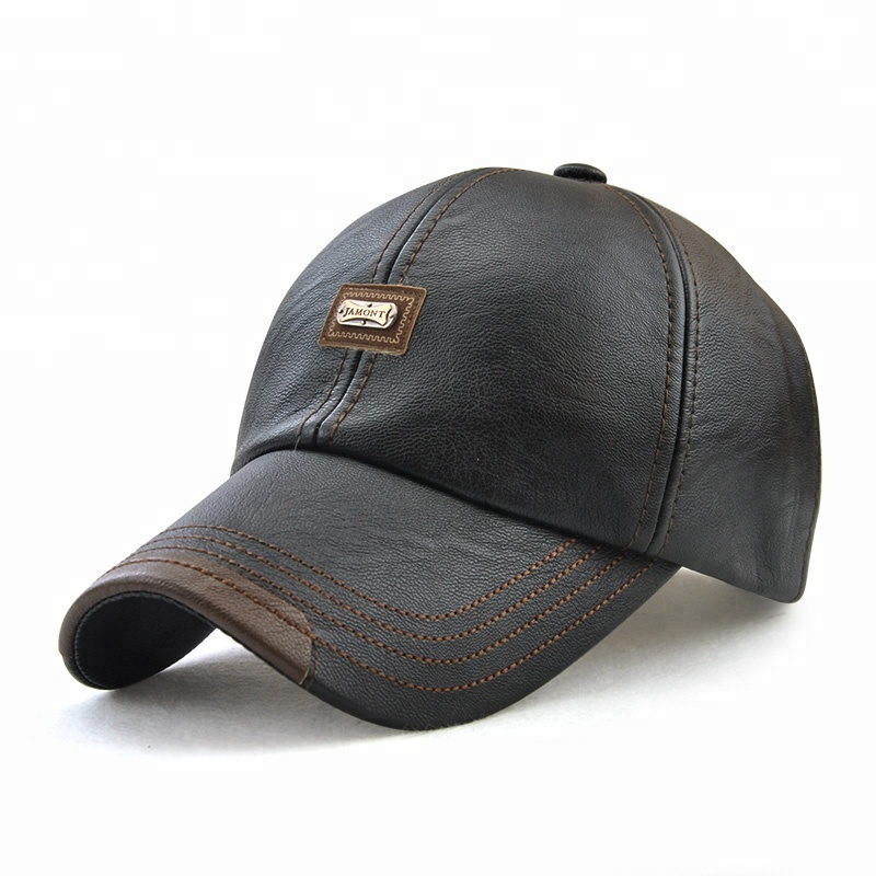 Wholesale promotional new style winter plain color baseball <strong>cap</strong> leather sport <strong>cap</strong>