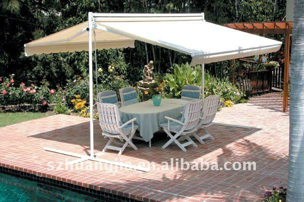 Outdoor Motorized Patio Freestanding Canopy