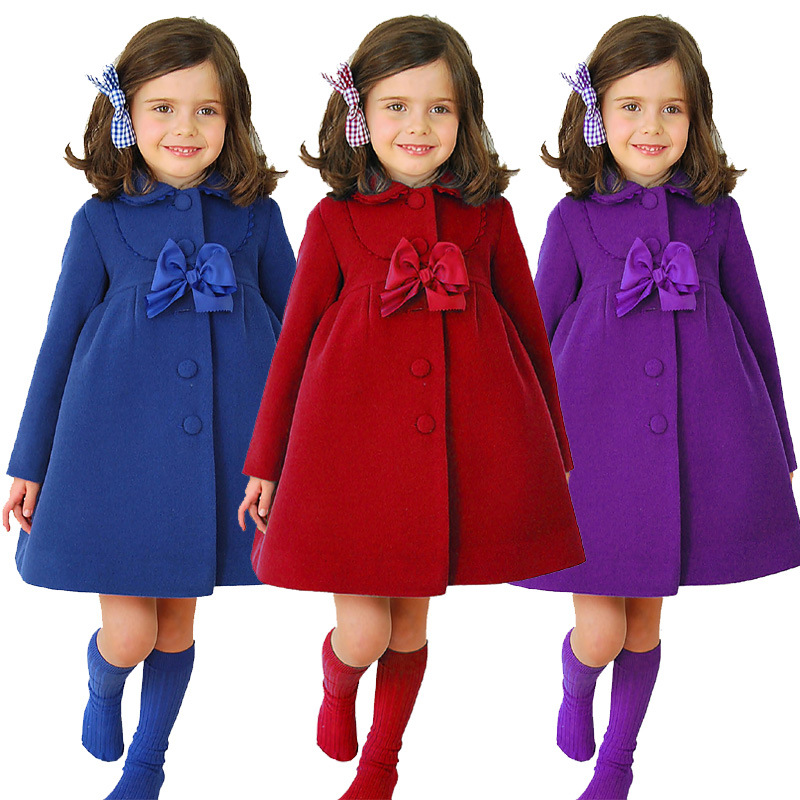 New arrival children s winter jackets girls winter coat Chrismas girls clothes baby girls wool coat