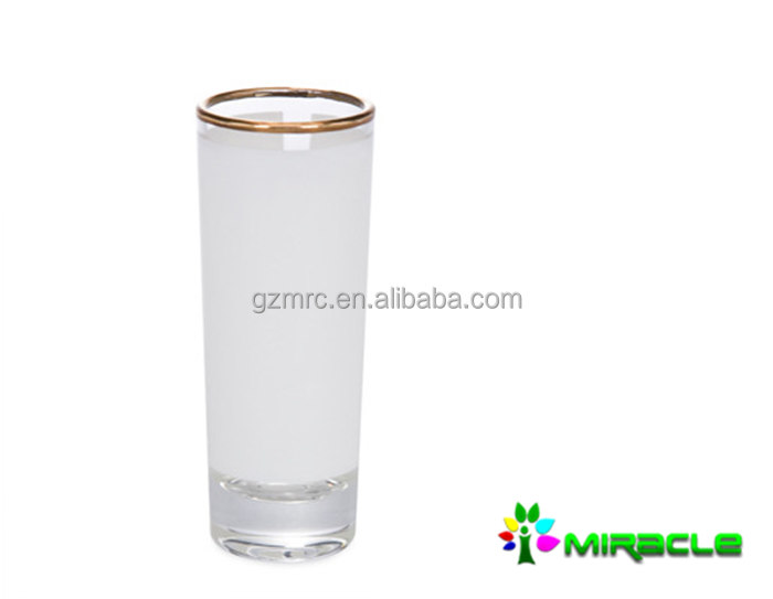 2.5oz glass with golden,2.5oz sublimation glass mug