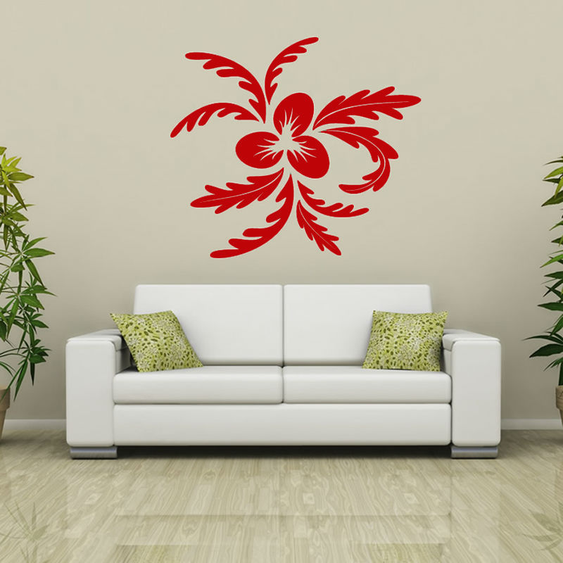 Vinyl Waterproof Removable DIY Clover Centre Nature Style Wall Sticker Living Room Home Decor