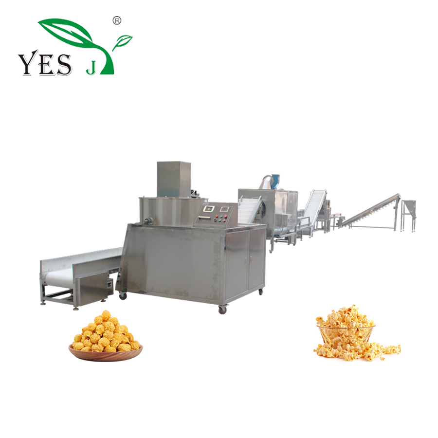 Continue salé caramel popcorn machine ligne de production