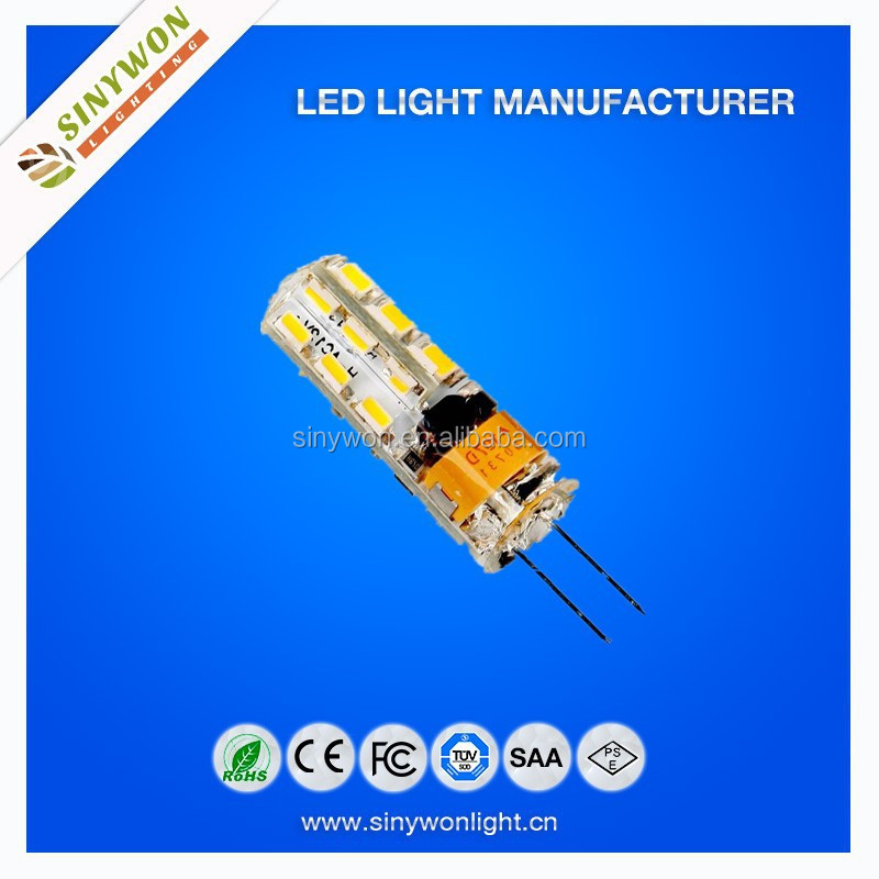 Hot Sale SMD 3014 24LED 6500K G4 AC220V DC12V LED Bulb