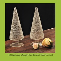 Popular and beautiful European Christmas tree crystal glass arts and crafts