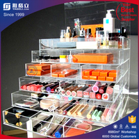 Factory direct selling customized wholesale acrylic make up cosmetic display stand organizer for mac makeup lipsticks
