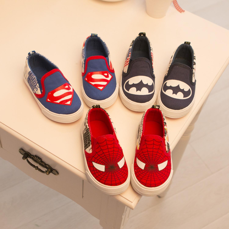 cute spide man children shoes boys shoes kid canvas shoes