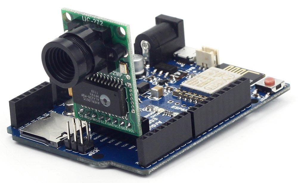 Arducam ESP8266 UNO Board and OV2640 Arducam Mini Module Camera Shield Compatible with Arduino UNO R3