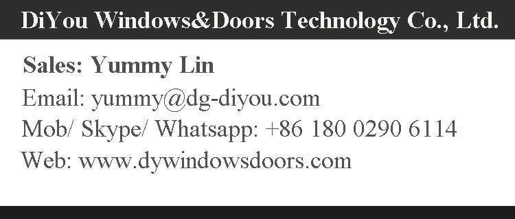 Aluminium/PVC Frame Double Hung Window