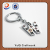 new products custom design metal letter keychain