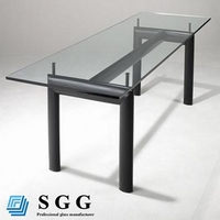 High quality meeting table glass top