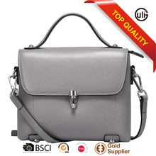 with 10 years manufacturer experience factory luxury genuine leather female casual bags leisure shoulder bags with strip
