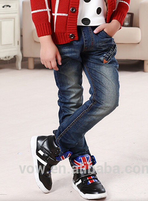 16b3097ae latest designer children boys slim denim jeans kids black plain jeans pant  hot sale